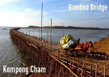 Kompong Cham trip- Bamboo bridge tour-angkor friendly driver