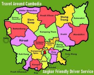 Cambodia Map - Angkor Friendly Driver